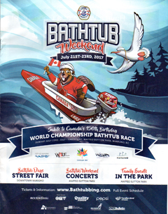 poster of Nanaimo Annual - World Championship Bathtub Races and Marine Festival - CLICK FOR ENLARGMENT