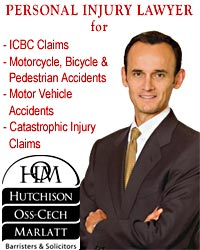 ICBC Claims, Motorcycle, Bicycle & Pedestrian Accidents, MVA, WCB , Medical Malpractice lawyers from Victoria's Personal Injury Lawyer - Lorenzo Oss-Cech - CLICK FOR IMAGES OF CARS DESTROYBED IN ACCIDENTS & MORE INFO